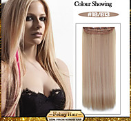 5 Clips Long Straight color 18/613 Synthetic Hair Clip In Hair Extensions For Ladies more colors available