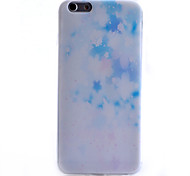 Blue Floral Pattern TPU Material Phone Case for iPhone 6