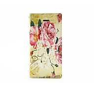 Peony pattern TPU/PU Leather Wallet Case/Case with Kickstand/Full Body Case for iPhone 5/5S