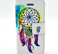 National Wind Painted PU Leather Mobile Phone Case with Kickstand for iPhone 5/5S