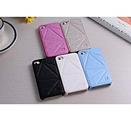 Specially Designed PU Leather Back Cover for iPhone 4/4S (Assorted Colors)