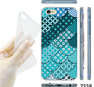 MAYCARI®Green Fan Pattern TPU Soft Transparent Back Case for iPhone 6