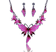 XU™ Women's Fashionable Joker Drip Butterfly Necklace Suits