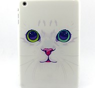 White Cat Pattern Soft TUP Case for iPad mini 3, iPad mini 2, iPad mini