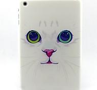 patrón de gato blanco caso maza suave para el mini iPad 3, iPad Mini 2, mini ipad