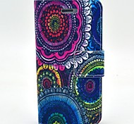 Painted PU Leather Flip Phone Bag Case with Stand for iPhone 4/4S