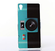 Fluorescent Camera Pattern TPU Soft Case for Multiple Sony Xperia M2/Z2A