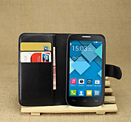 litchi intorno stallo aperto telefono fondina adatto per Alcatel One Touch pop C5 / ot5036d ((colori assortiti)