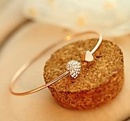 Fashion Jewelry Simple Rhinestone Heart Bracelet