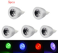 5pcs HRY® 3W MR16 RGB LED Bulb Lamp light 16 Color changing + IR Remote(85-265V)