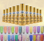 Color Cheese UV Gel Polish Soak Off 12ml Nails Manicure Art Nail 24 Colors For Choose
