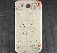 Drill and White Decorative Pattern PC Back Cover Case for Samsung Galaxy Mega I9152