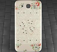 taladro y blanco decorativo pc patrón de caso de la contraportada de la galaxia de Samsung i9152 de mega