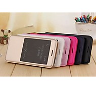 Flip Cover Window Official Website Original Leather Case Pu Mobile Phone Shell for Huawei Chang Wan 4X Assorted Colors