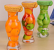 Clear Glass Vase with Decorative Simulation Fruits(Random Color)
