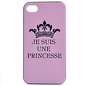 Imperial Crown Pattern PC Material Phone Case for iPhone 4/4S
