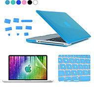 ENKAY 4 in 1 Crystal Hard Protective Case+Screen Protector+Keyboard Film+Anti-dust Plugs for MacBook Pro 13.3""