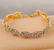 Fashion Jewelry Weave Twisted Rhinestone Bracelet