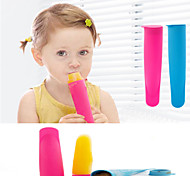 Silicone Push Up Ice Cream Mold Jelly Lolly Pop Maker Popsicle Mold (Random Color)