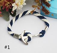 Fashion Vintage Navy Ship Anchor Bracelet