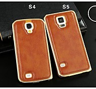 Genuine Leather Back Cover for Samsung Galaxy S5/S4 (Assorted Colors)
