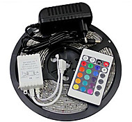 5 - M - 300 3528 SMD - RGB - (Cortable/Control Remoto/Regulable/Conectable/Auto-Adhesivas/Color variable) - 24 - (W) - Tiras de Luces RGB -