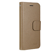 UWEI Cow Leather PU Leather Flip Case for iPhone 5/5S