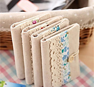 For 20 Cards Lace Cotton and Linen Credit Card Case(Random Color)