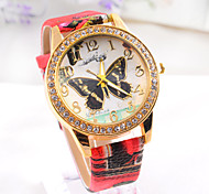 Women's big  Butterflies Fashion retro cartoon   Hot sell Ladies' punk Diamond Watch