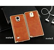 Für Samsung Galaxy Note Beschichtung Hülle Rückseitenabdeckung Hülle Einheitliche Farbe PU - Leder Samsung Note 4 / Note 3