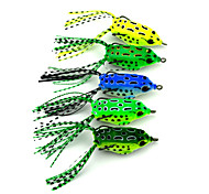 "5 pcs Soft Bait / Fishing Lures Soft Bait / Frog Green / Yellow / Light Green / Forest Green / Blue 8 g/5/16 oz. Ounce,55 mm/2-1/4"" inch,"