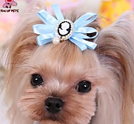 Cat / Dog Hair Accessories / Hair Bow Red / Blue / Pink Spring/Fall Wedding / Cosplay