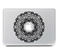 fiore circolare 4 adesivo decorativo pelle per macbook air / pro / pro con display retina