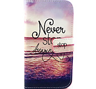 Fashion Design COCO FUN® Sunset Beach Pattern PU Leather Wallet Case Cover for  Wiko Lenny