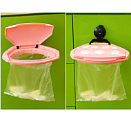 Portable Plastic Mini Sucker Garbage Bag Hanger Trash Can Rack Hook Holder (Random Color)
