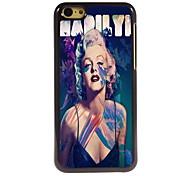 marilyn monroe design en aluminium cas de haute qualité pour iPhone 5c