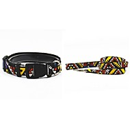 Cat / Dog Collar / Leash Fashion Black / Green / Blue / Yellow / Orange Textile / Nylon / Denim