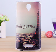 Eiffel Tower Pattern TPU Soft Case for Oppo R831S