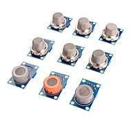 sensore del gas modulo kit mq-2 mq-3 mq-4 mq-5 mq-6 mq-7 mq-8 mq-9 mq-135 sensore per arduino