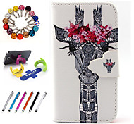 PU Leather Coloured Drawing Or Pattern Holster Package Includes Stand Anti-Dust Plug Stylus for iPhone 4/4S