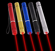 LT - 5mw 650nm Visible Adjustable Beam Red Laser  Pen Flashlight - Black Red Blue Sliver Golden