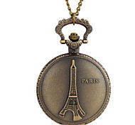 Women's Eiffel Tower Pattern Analog Quartz Pocket And Necklace Watch Cool Watches Unique Watches