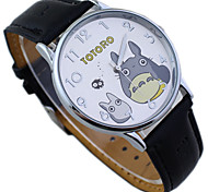 Kid's TOTORO Dial PU Band Cute Cartoon Wrist Watch