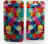 Colorful Box Pattern TPU Full Body Case with for iPhone 5S