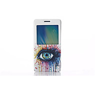 2015 Window Support Flip Case Stand Colored Drawing Fashion Pu  Mobile Phone Shell Men And Women for Samsung A5/A7