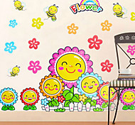 Multifunction DIY PVC Smiling Sunflower Decorative Stickers