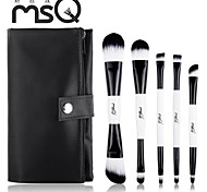 MSQ®5Pcs black-and-white Double-end Makeup Brush Set