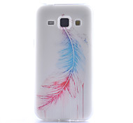 Feather Pattern TPU Phone Case for Samsung Galaxy Core Prime G360 /G357/G850/J1/530/355H