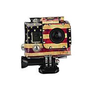 KingMa Gopro Accessories American Flag case Sticker for GoPro Hero 4 3 Housing