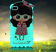 Little Girl with Luminous Back Cover for iphone 6 plus (Assorted Colors)